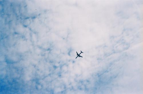 飞机与飞机云、色彩与爱、飞机