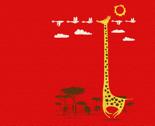 失梦的寓言:长颈鹿是森林里最热情的欧吉桑